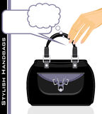 Female stylish handbags Stock Image