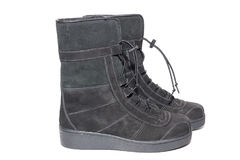 Female suede boots Royalty Free Stock Image