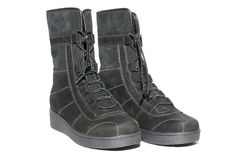 Female suede boots Stock Photos