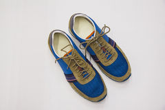 Female suede shoes pair Royalty Free Stock Photo