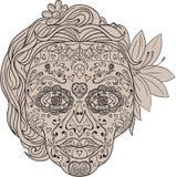 Female Sugar Skull Calavera Retro Stock Images