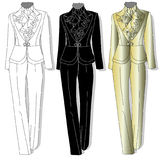 Female suit. Clothes collection. Vector. Stock Image