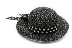 Female summer hat  on a white Royalty Free Stock Photos