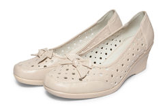 Female summer shoes Stock Images