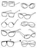 Female sunglasses. Set of womens sunglasses Royalty Free Stock Photography