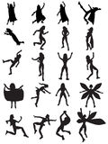 Female Superhero Silhouettes Royalty Free Stock Images