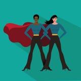 Female superheroes flat design Stock Photos