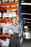 Female Supervisor Wearing Protective Eyeglasses At Stock Photos