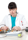 Female support computer engineer Royalty Free Stock Photos