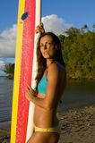 Female surfer royalty free stock images