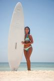 Female surfer Royalty Free Stock Photography