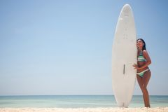 Female surfer Royalty Free Stock Photos