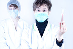 Female Surgeon and assisntat Stock Photos