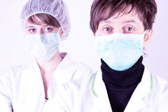 Female Surgeon and assisntat Royalty Free Stock Images