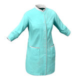 Female Surgeon Dress on White Background Stock Photo
