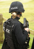 Female police SWAT marksman. ENGLAND. MARCH 2012 Stock Images