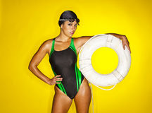 Female Swimmer Stock Image