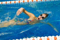 Female swimmer Royalty Free Stock Photography