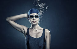 Female swimmer. Concept image Royalty Free Stock Images