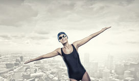 Female swimmer. Concept image Royalty Free Stock Photography