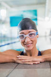 Female swimmer in the pool at leisure center Royalty Free Stock Photography