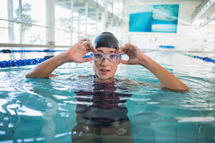 Female swimmer in the pool at leisure center Royalty Free Stock Images