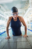 Female swimmer in the pool at leisure center Stock Image