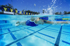 Female Swimmer In Pool Royalty Free Stock Images