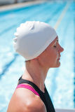 Female swimmer at pool Royalty Free Stock Images