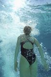 Female Swimmer Underwater Stock Photography