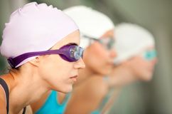 Female swimmers Royalty Free Stock Photography