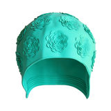 Female Swimming Cap. Rubber swimming cap isolated on white background  with clipping path Stock Images