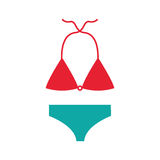 Female Swimwear isolated icon. Vector illustration design Royalty Free Stock Photo
