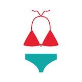 Female Swimwear isolated icon Royalty Free Stock Photo