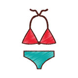 Female Swimwear isolated icon. Vector illustration design Royalty Free Stock Images