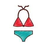 Female Swimwear isolated icon Royalty Free Stock Images