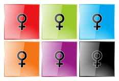 Female symbol Royalty Free Stock Photography