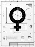 Female symbol as technical drawing Stock Photography