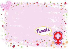 Female Symbol in Colourful Illustration Royalty Free Stock Photography