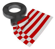 Female symbol and flag of bremen Royalty Free Stock Photos