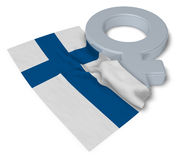 Female symbol and flag of finland Stock Photo