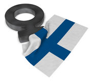Female symbol and flag of finland Royalty Free Stock Images