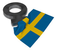 Female symbol and flag of sweden Royalty Free Stock Images