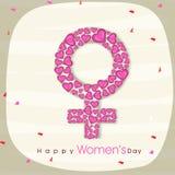 Female symbol for International Women's Day celebration. Stock Images