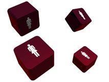 Female symbols Royalty Free Stock Photo