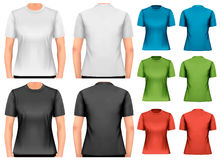 Female t-shirts. Design template. Vector Stock Photography