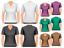 Female t-shirts. Design template. Stock Photography