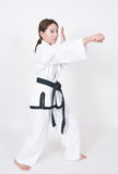 Female tae kwon do athletes Stock Images