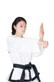 Female taekwondo athletes Stock Photo