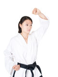 Female taekwondo athletes Stock Images
